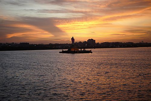 Hussain Sagar in Hyderabad