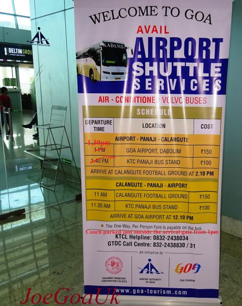 airport shuttle goa