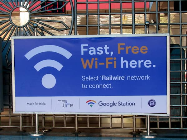 google free wifi railway station
