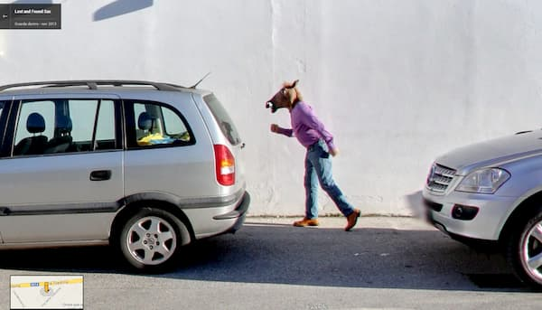 horse boy google street view funny