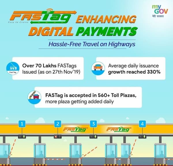 FASTag digital payments