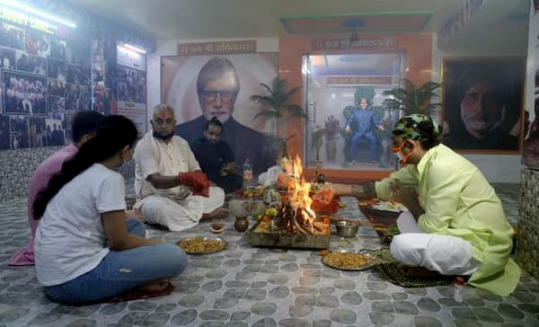Yagna at Kolkata's Amitabh Bachchan temple for his speedy recovery